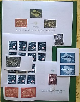 CROATIA 1945 lot STORM DIVISION Michel Block 8 ++ forgery collection