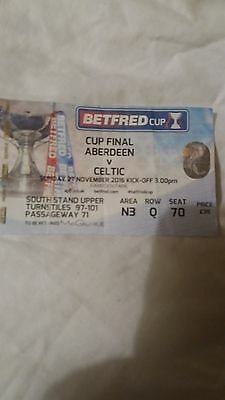 2 Celtic away Ticket Stubs 2016/2017