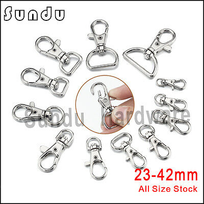 Wholesale Various Sizes Metal Swivel Clasp Lanyard Snap Hook Lobster Claw Clasps
