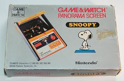 NINTENDO GAME & WATCH - SNOOPY - Panorama Screen 1983 - BOXED -