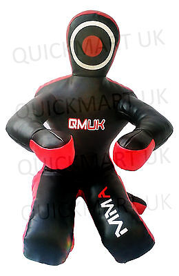 """QMUK Leather MMA Grappling Judo Grapling Dummy-Sitting Position hands front 40"""""""