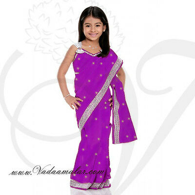 Saree ReadyMade Costume Girls Children Indian Design Model Fancy Dress KSA313
