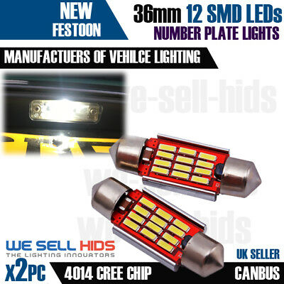 VW Transporter T5 MK5 V Canbus 12 SMD LED License Number Plate Light Bulbs White