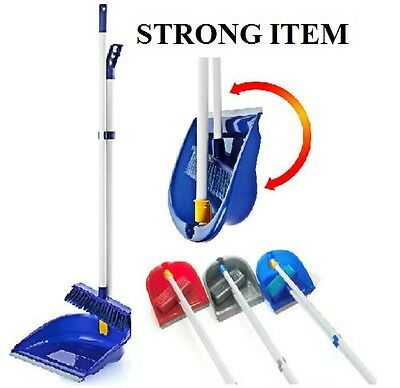 Strong Folding Long Handle Dustpan Dust Pan And Brush Set Garden Broom Sweeper