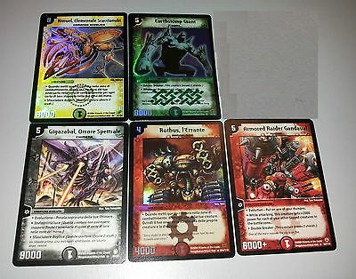 Lotto Stock 5 Carte Duel Masters - Gandaval - Earthstomp Giant - Rhotus