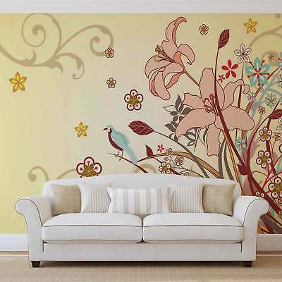 WALL MURAL PHOTO WALLPAPER XXL Flower Floral Pattern Abstract (038WS)