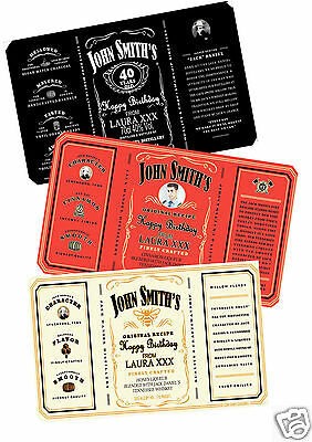 Personalised Jack Daniel's Whiskey Labels For Any Occasion - With Or W/o Photo
