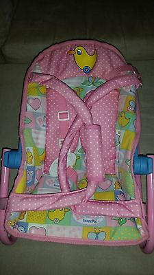 RARE vintage Baby Born Zapf BOUNCE Seat Baby car seat Doll Carrier Rare