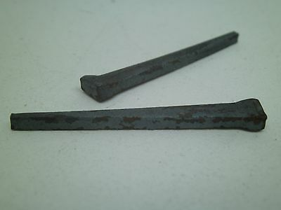 "LOT of 100! Antique Square Cut Raisin Head Nails 2"" NEW OLD STOCK STORE FIND DA"