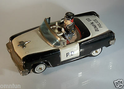 juguete antiguo  hojalata a cuerda KO Yoshiya Japan car police // tin toy