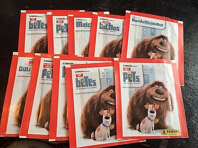 10 Packets Packs of The Secret Life Of Pets Stickers Panini Party Bag Filler