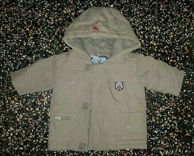 BABY BOYS Sz 000 brown TARGET hooded winter jacket COOL! CUTE! WARM!