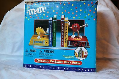 M & M's Character bookends clock
