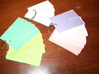 Kokuyo Ringed Cards Assorted Colors Sight Word Cards Teachers School Supplies