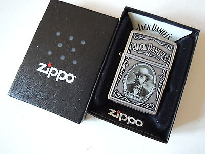 Authentic Zippo Lighter - Jack Daniel's Cameo 28343 - No Inside Guts Insert