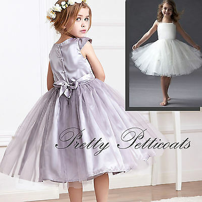 Girl Stiff Net Petticoat Slip Underskirt Crinoline Communion Flower Girl