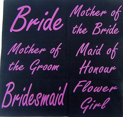 wedding-hen party 6 designs- iron on transfers bride bridesmaid print your own