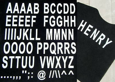 50mm - A-Z LETTERING white iron on -print your own garments.-iron on letters.