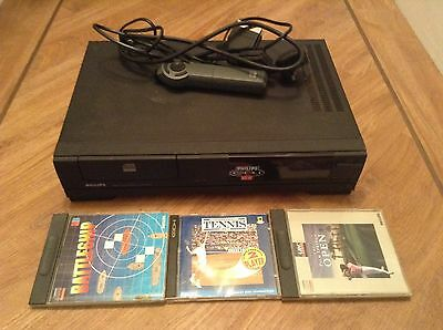 Philips CDI210 Compact Disc Interactive Player With Remote and Games Bundle