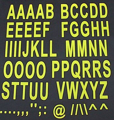 LARGE 90mm yellow iron on  A-Z LETTERS transfer printing sets