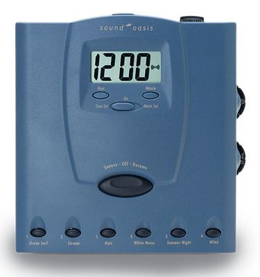 Sound Oasis S-560-03 Ultra Sleep Sound Therapy System Nature Sounds Alarm Clock