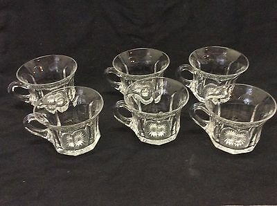 6 Heisey Glass Punch Cups