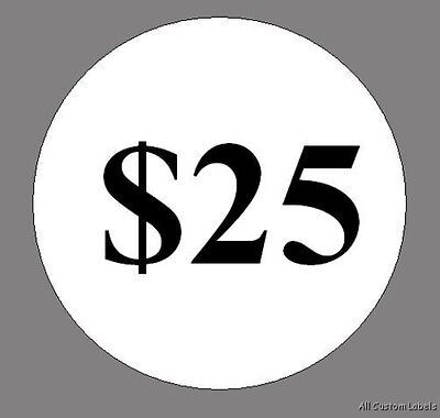 """Custom Poker Chip Stickers - 0.75"""" -  $ Values Only"""