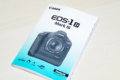 MANUAL COMPACTO CANON  ORIGINAL EOS 1D MARK III FRANCAIS 210 pag.