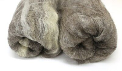 Natural Variety Breeds of Wool Carded Batt 200g 7 ounce Undyed Blended Fibre
