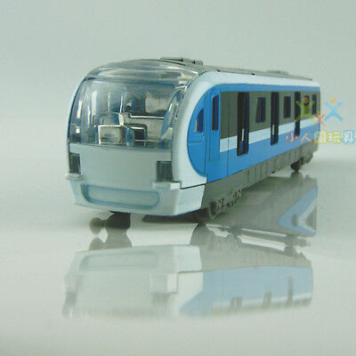 Model Cars Metro Subway Train Toys Alloy Diecast Sound&light Pull back function