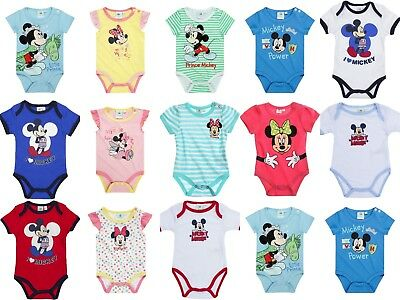 Disney Baby Newborn Infant Boys Girls Bodysuits Jumpsuit Rompers 0-24 months