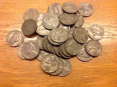 Old US 35% Silver Bullion Coins War Nickels $2 Face Full Roll GREAT PRICE!!