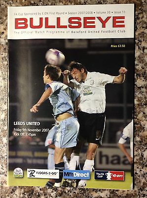 Hereford United V Leeds United FA Cup 1st Round 2007