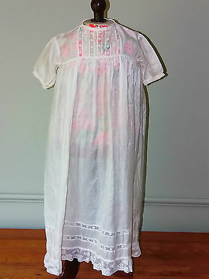 Vintage Silk Christening Gown