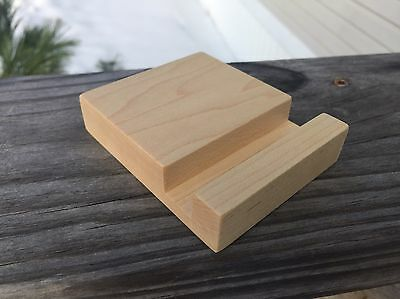 Made In USA Maple Cell Phone Cradle Fits All Cell Phones And Small Tablets