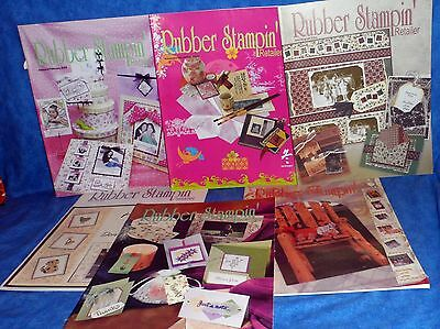 RUBBER STAMPIN' (up) 6 RETAILER MAGAZINES 2002 (1),2003 (1),2004 (3).2005(1)  A1