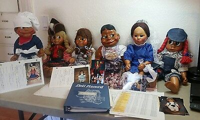 VINTAGE NABER KIDS DOLL -  1989-93 - ORIGINAL AND SIGNED with tag w/record book
