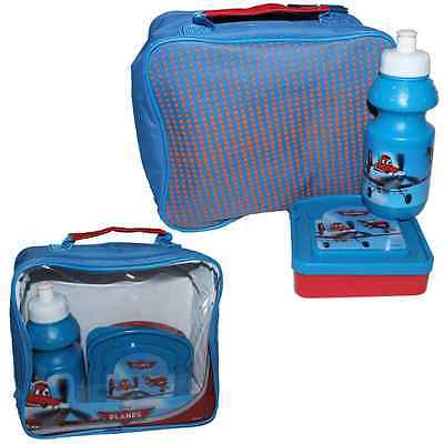 Insulated Raised Front Lunch Bag, Snack Box and Bottle set - DISNEY PLANES
