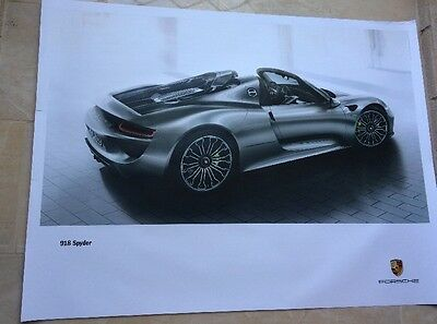 "PORSCHE OFFICIAL 918 Spyder  SHOWROOM POSTER 30""x 40"""
