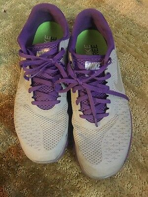 Nike Free Mens Shoes Grey And Purple Noel Free 4.0 V2 Pre Worn Size 10.5