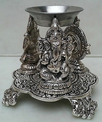 Nice Metal Oil Burner GANESHA,OM,LAKSHMI With Oil And Tea Light Candle FREE!!!
