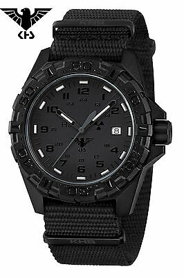 KHS Tactical Watches German Police Watch Reaper XTAC Red H3 Date KHS.REXT.NB