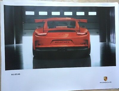 "PORSCHE OFFICIAL 911 GT3 RS SHOWROOM POSTER 30""x 40"""