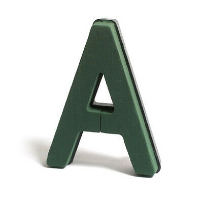 Floral Foam Funeral Letter with Clips A-Z Available Oasis Plastic Back