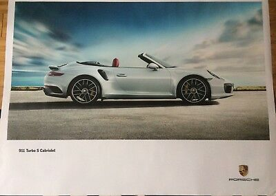 "PORSCHE OFFICIAL 911 Turbo S Cabri SHOWROOM POSTER 30""x 40"""