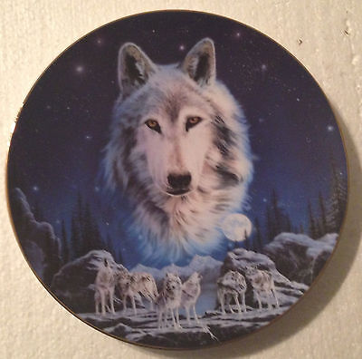 Collectable Wolf Plate - 8 1/4 Inches - Hamilton - Eyes Of The Night