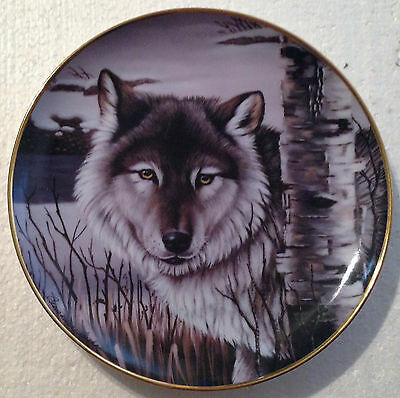 Collectable Wolf Plate 8 1/4 Inches - Pride Of The Wilderness- The Franklin Mint