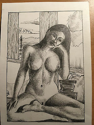 Erotic Ex libris, bookplate / MK
