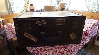 Vintage Antique Travel Trunk Steampunk Style Stack-able Decor Vintage Stickers