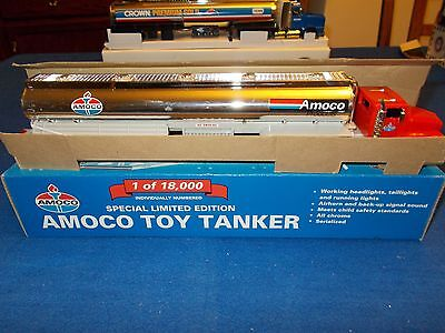 1996 Amoco Chromed Special Limited Edition Toy Tanker Individually Numbered